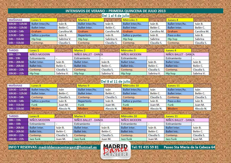 CURSILLOS MDC 1ª quincena de JULIO 2013